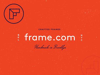 frame.com - Branding I orange mark nyc brooklyn identity frame explorations logo branding startup