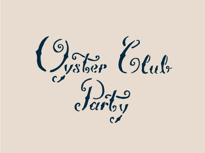 Oyster Club Party carrot theme nautical sea navy lettering club oyster instacart party