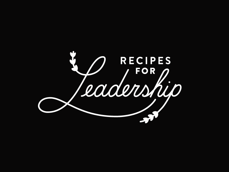 Recipes for Leadership identity instacart leadership recipes lettering branding logo