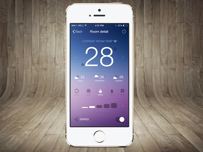 Old app redesign iOS iphone app weather ios7 ios 7 flat design application