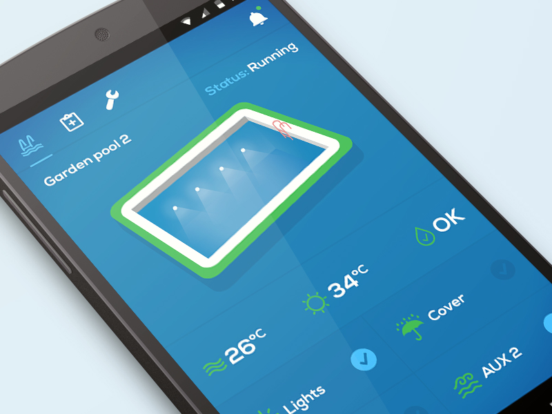 Pool control app by tom dlugo dribbble dribbble for Pool design app