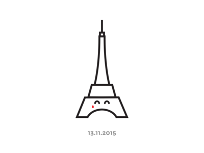 Stay Strong Paris :( france tower eiffel illustration strong stay paris