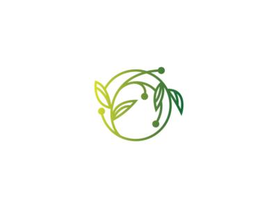 moon plant logo design sphere logo circular logo moon logo logo design logo leaf green nature plant moon