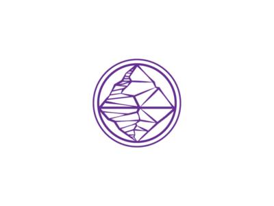 purple rock diamond logo logo design logo template robot purple logo diamond logo rock logo