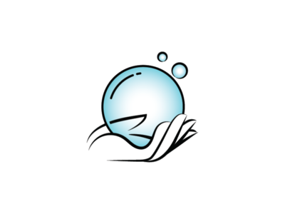 Clean Hand Bubble Logo bubble logo sanitation logo health logo logo healthy hand clean bubble sanitation