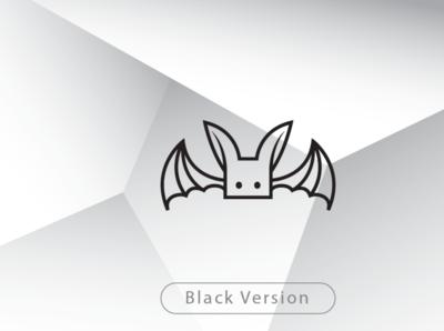 Cute Bat Logo with Square Head bat logo template bat design bat brand little bat square bat cute bat logo bat logo bat