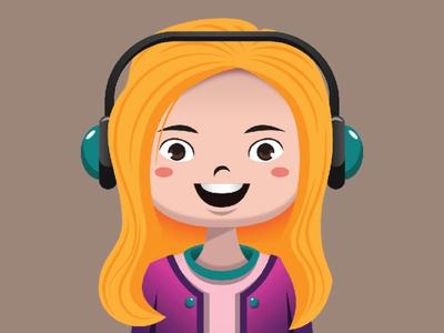 Gamer Girl Vector Illustration girl vector girl photo female photo profile twitch discord youtube girl avatar gamer girl