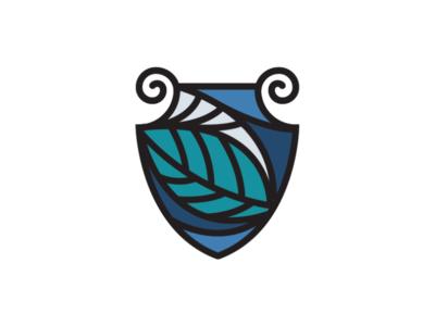 Celestial Shield Logo logo inspiration logo template linestyle logo greek logo leaf logo nature logo shield logo celestial logo