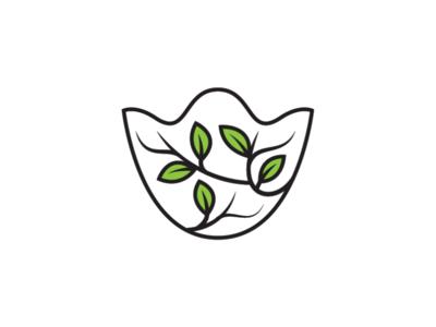 Nature Masker Leaf Logo Template virus corona health logo medic logo custom masker logo leaf masker leaf masker logo nature logo masker logo mask logo