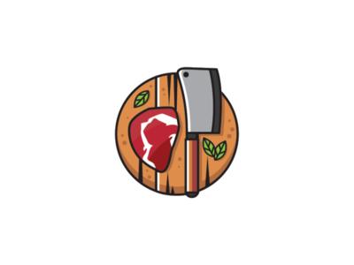 Steak and butcher knife Logo kitchen logo knife logo chef logo meat logo ribeye logo steak logo butcher knife logo