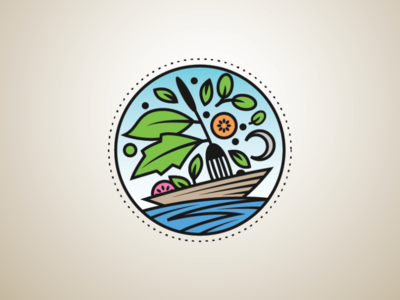 Food Boat Logo logo art vegetable ship boat food ocean vegetable logo ship logo boat logo food logo