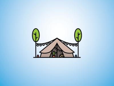 Outdoor Camp Decor Logo vacation logo adventure logo outdoor logo tent logo camp logo