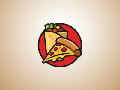 kebab and pizza logo food logo restaurant logo fast food logo pizza logo kebab logo