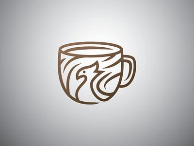 peacok bird mug logo coffee beverage drink phoenix bird peacok mug