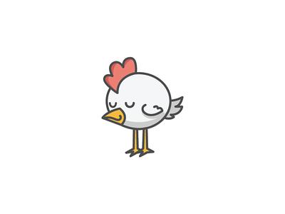 sleepy chicken chick cute logo design logo sleepy cute chicken