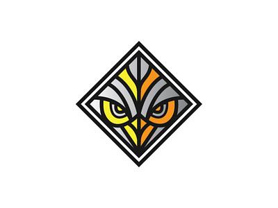Silent Hunter Logo Template branding illustration graphic design logo template logo design template brand logo predator night hunter eagle owl