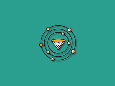 Cone Orbit Logo logo design logo template template logo planet orbit logo cone logo simple abstract orbit cone