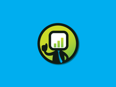 Chart Man Logo people logo chart logo design template logo business people man chart