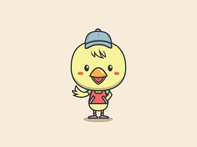 Little Chick Logo pet graphic design design logo design logo template template logo shop store wear cloth chicken chick
