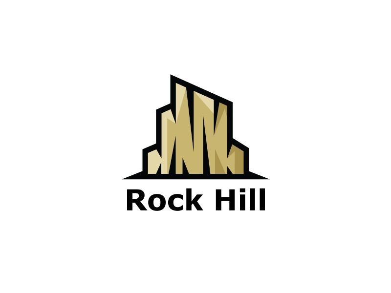 rock hill mountain logo template by heavtryq dribbble dribbble