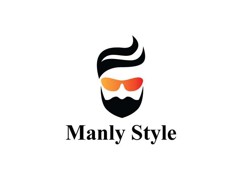 stylish beard and hair logo template by heavtryq dribbble dribbble