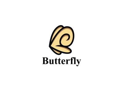 Lovely Butterfly Logo Template