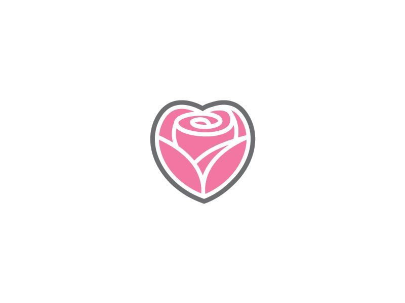 rose heart love logo template by heavtryq dribbble