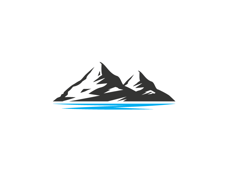 twin mountain logo template by heavtryq dribbble dribbble