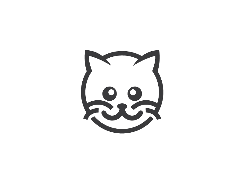 save the cat template - round cat logo template by heavtryq dribbble