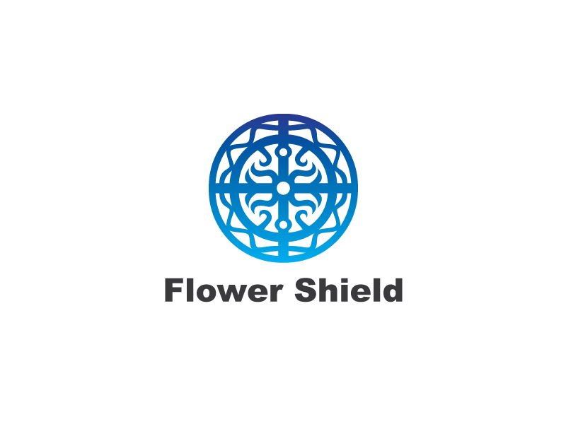 flower shield crest logo template by heavtryq dribbble