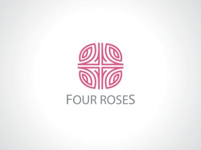 Four Rose Flowers Logo Template by Heavtryq - Dribbble