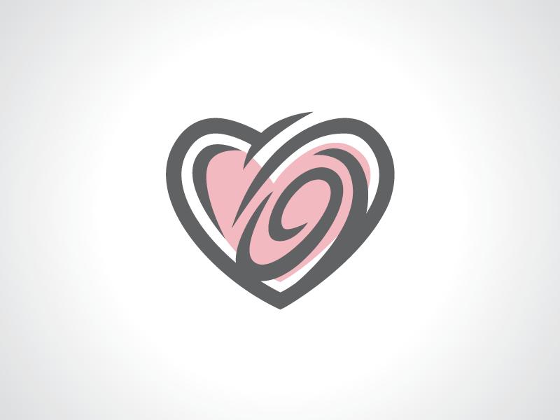 swirl love heart logo template by heavtryq dribbble dribbble