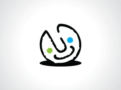 Happy Smiley Ball Logo Template