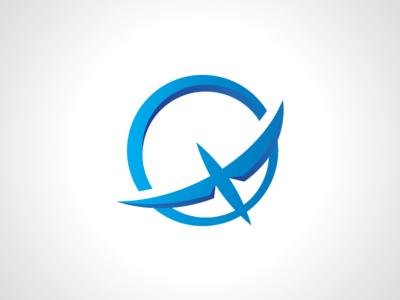 Sky Wings Bird Sun Logo Template