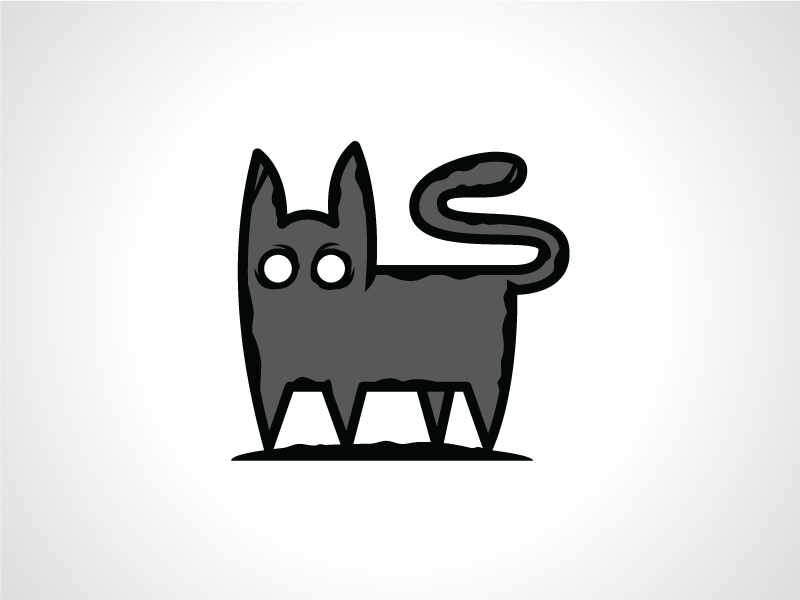 creepy gothic cat logo template by heavtryq dribbble dribbble