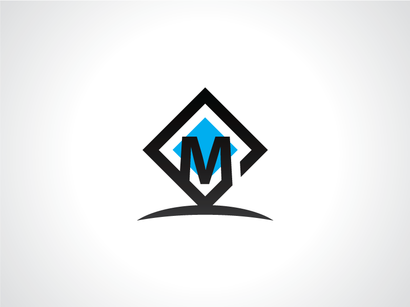 Diamond Alphabet M Logo Template By Heavtryq
