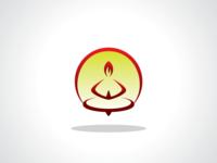Hot Meditate Yoga Logo Template