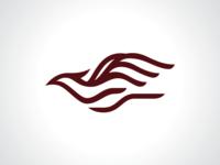 Wave Bird Logo Template Vector