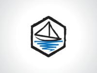 Hexagonal Boat Logo Template