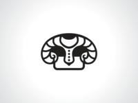 Bull Helmet Knight Logo Template