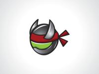 Metal Ninja Helmet Logo Template
