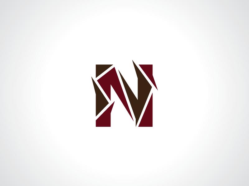 spiky letter n logo template template design logo alphabet text spily letternlogo typography n letter