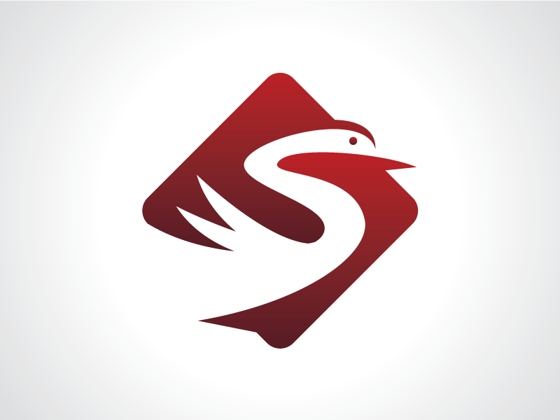 Red Swan Flying Logo Template poultry design template logo animal sign flying fly bird swan red
