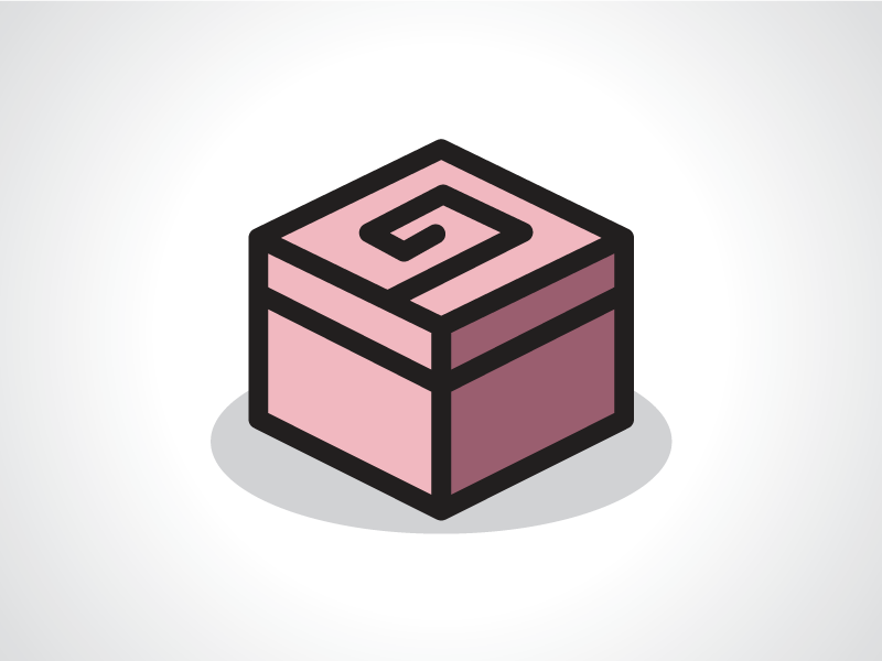 rose cube box logo template by heavtryq dribbble dribbble