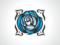 Blossom Blue Rose Logo Template