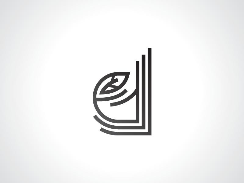 Letter D Leaf Logo Template line style logo type logo letter logo alphabet logo line style logo letter d logo leaf logo logo template logo design