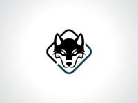 Siberian Husky Dog Logo Template