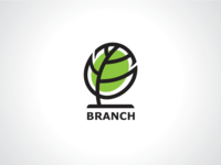 Oval Branch Tree Forest Logo Template