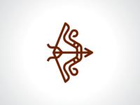 Simple Arrow And Bow Logo Template