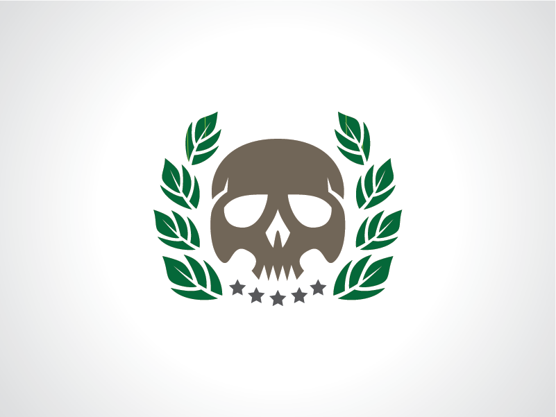 Skull with Leaf Logo Template by Heavtryq on Dribbble
